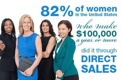 women in direct sales