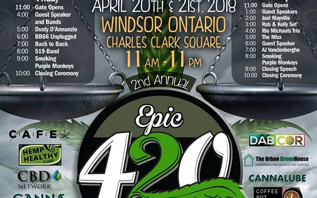Press release Windsor Ontario 420 Festival