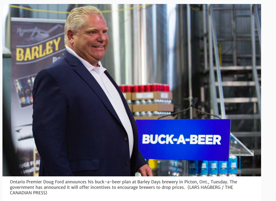 Buck a beer Doug Ford