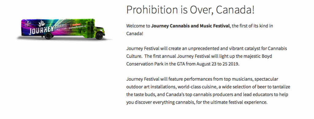 cannabis events in Ontario BYOC Journey Cannabis and Music Festival